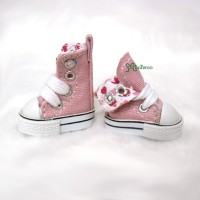 1/6 Bjd Neo B Doll Denim MICRO Shoes Folded Boots Pink SHP188PNK