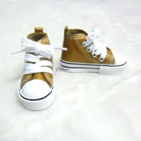 SHS140BRN SD DD bjd Doll Shoes Metallic Sneaker BROWN
