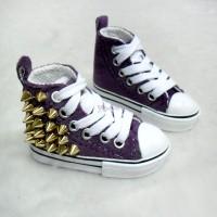 Super Dollfie 1/3 bjd Punk Rivet Velvet Shoes PURPLE SHS141PUE