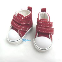 SHU051RED Yo-SD bjd Doll Shoes 2 Strap Denim Boots Red