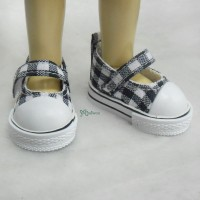 Yo-SD bjd Doll Maryjane Denim Shoes Checker Black SHU052BLK