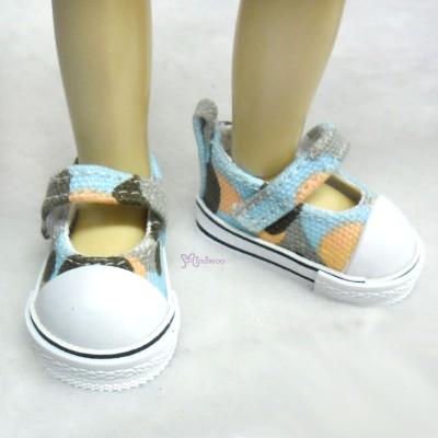 SHU052WBE 1/6 bjd Doll MCC Maryjane Denim Shoes Hiking Blue