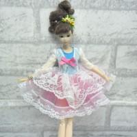 Blythe Momoko Pullip Obitsu Doll Outfit European Dress TBS094PNK