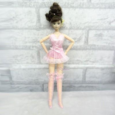 1/6 BJD Doll Pink Sexy Lingerie Dress Outfit TBS102PNK