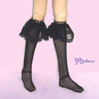 TMS014BLK MSD DOC 1/4 bjd Doll Lace Lolita Stockings Black