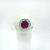 VA16C01 MSD 1/4 Bjd Round Acrylic Meta Doll Eye 16mm Blue w Red Iris