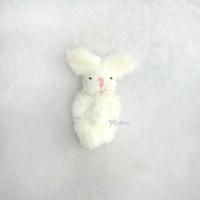 WAB010WHE 1/6 Momoko Blythe 6cm Mini Plush Bunny Rabbit Milky