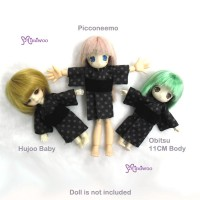 WHB003PUE Hujoo Baby Obitsu 11cm Doll Picco Neemo Yukata Purple