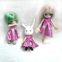 WHB006 Obitsu 11cm Doll Picco Neemo Figure One-piece Dress Snow