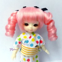 "WM21-2TS-PK Hujoo Baby 4-5"" Heat Resistant Curl Braids Pink"