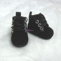 YK01BLK Monchhichi S Size MCC Doll Shoes Velvet Black