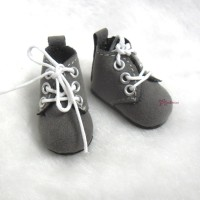 Mimi Collection 4cm Doll Shoes Velvet Grey fit Monchhichi S Size YK01GRY