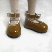 YK03LBN Monchhichi S Size MCC Doll Shoes Mary Jane Brown