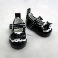 S Size MCC Doll Bow Shoes BLACK YK06BLK