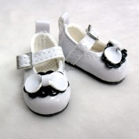 Monchhichi S Size MCC Taeyang Doll Bow Shoes WHITE YK06WHE