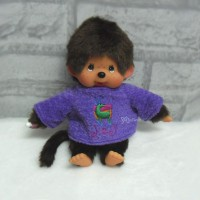 YLM006PUE Monchhichi S MCC Outfit Long Sleeve Fur Clothes Purple