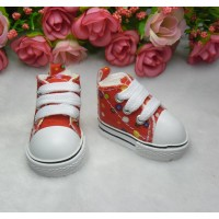 Yo-SD Bjd Neo-Go Obitsu Male Taeyang Doll Shoes Dots Sneaker RED SHU004RED