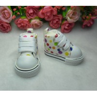 Yo-SD Bjd Neo-Go Obitsu Male Taeyang Doll Shoes Dots Sneaker White SHU004WHE