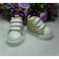Yo-SD Bjd Neo-Go Boy Obitsu Male Taeyang Doll Shoes Denim Sneaker Blonde SHU005BLD