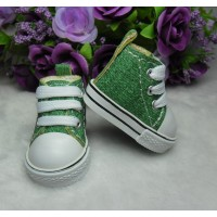 Yo-SD Bjd 1/6 Doll Shoes Denim Sneaker Green SHU005GRN