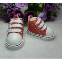 Yo-SD Bjd Neo-Go Boy Obitsu Male Taeyang Doll Shoes Denim Sneaker Red SHU071RED