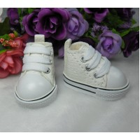Yo-SD Bjd Neo-Go Boy Obitsu Male Taeyang Doll Shoes Denim Sneaker WHITE SHU071WHE