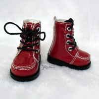 Yo-SD bjd Dollfie Doll Leeke Shoes Hiking Boots Red SHU042RED