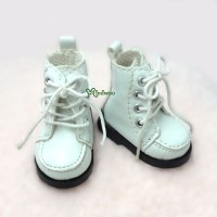 Yo-SD bjd Dollfie Doll Leeke Shoes Hiking Boots White SHU042WHE