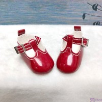 Yo-SD BJD Doll Maryjane School Shoes Red SHU050RED