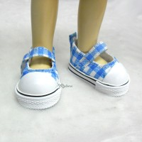Yo-SD Leeke Doll Maryjane Denim Shoes Checker Blue SHU052CBE