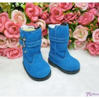 Yo-SD Bjd Dollfie Shoes Buckle Velvet Boots Blue SHU053BLE