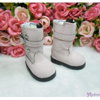 Yo-SD Bjd Dollfie Shoes Buckle Velvet Boots Pink SHU053PNK
