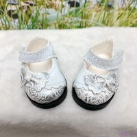 SHU075WHE Yo-SD 1/6 bjd Doll Butterfly Bow Flower Strap Shoes WHITE