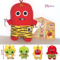 "Japan Fuji TV Mukku 3"" Cell Phone Strap Mascot Plush 46109D"