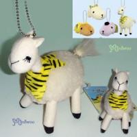 46146C Tiger Year Kapibara Ryama Chan Alpaca Ball Keychain