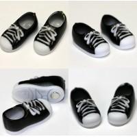 11SH-F004BK-G Obitsu 11cm Body Doll Shoes Magnet Sneaker Black