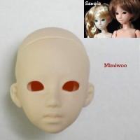 21HD-F03W Obitsu 1/6 Female Doll Head w Eye Holes - 03 White