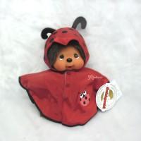 240850 Monchhichi 25cm MCC Poncho deEnjoy Rainy Days Red
