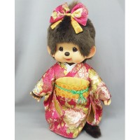 Monchhichi L Size Plush MCC Red Kimono Girl 256358