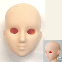 27HD-F06W-E Obitsu 1/6 Doll Head w Eye Holes - 06 White