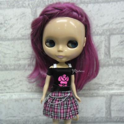 1/6 BJD Outfit Low Waist Skirt + Tee ROSE 400200