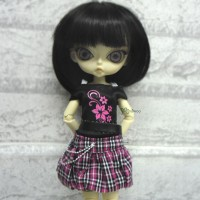 1/6 BJD Outfit Low Waist Skirt + Tee FLOWER 400300