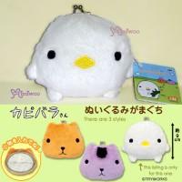 46104B Japan Kapibara Lazy Bird 毛毛 碎銀包