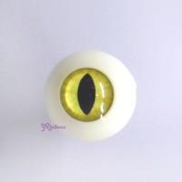 CAT20C15 BJD Doll Acrylic Plastic eyeball Full Round Cat Eye 20mm Yellow