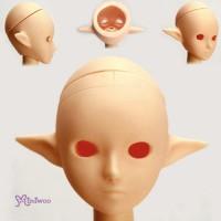 HD-PB-2703N Obitsu 1/6 Doll Body Eye Hole Pixy Ear Head Natural