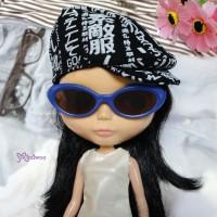 HSM011BLE03 Neo B Doll Mimi Plastic Blue Glasses Brown Lens