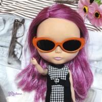 HSM011ORE02 Neo B Doll Mimi Plastic Orange Glasses Black Lens