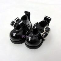 1/6 Bjd Doll Cross Strap Shoes Black LYS002BLK