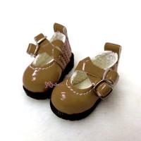 1/6 BJD Doll Cross Strap Shoes Brown LYS002LBN