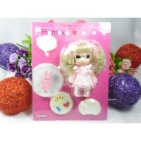 Mame Momoko x Pink Dress Girl 10cm 可動 膠公仔 215100